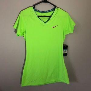 Neon Green Nike Pro Shirt